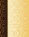 Elegante kaart met naadloos damastbehang Royalty-vrije Stock Afbeeldingen