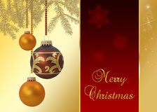 Elegante Kerstmis stock illustratie