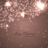 Elegante Kerstmisachtergrond met sneeuwvlokken Royalty-vrije Stock Fotografie