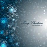Elegante Kerstmisachtergrond met sneeuwvlokken stock illustratie
