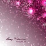 Elegante Kerstmisachtergrond met sneeuwvlokken Stock Foto