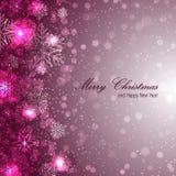 Elegante Kerstmisachtergrond met sneeuwvlokken Stock Foto's