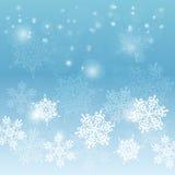 Elegante Kerstmisachtergrond met sneeuwvlokken Stock Fotografie