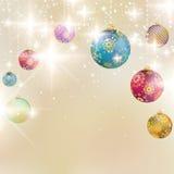 Elegante Kerstmisachtergrond met snuisterijen. Royalty-vrije Stock Foto's