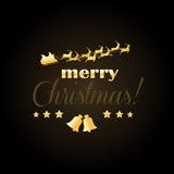 Elegante Kerstmiskaart Stock Foto