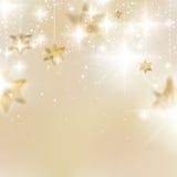 Elegante Kerstmissneeuwvlokken en copyspace. Stock Afbeelding