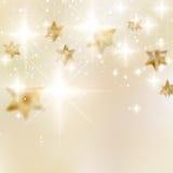 Elegante Kerstmissneeuwvlokken en copyspace. Stock Foto's