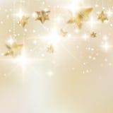 Elegante Kerstmissneeuwvlokken en copyspace. Stock Afbeeldingen