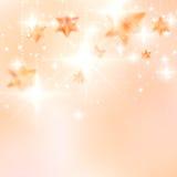 Elegante Kerstmissneeuwvlokken en copyspace. Royalty-vrije Stock Afbeeldingen