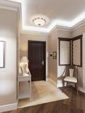 Elegante klassieke en luxueuze zaal Stock Afbeelding