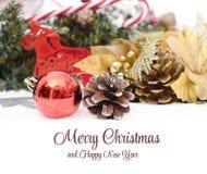 Elegante klassische Weihnachtshintergrund-Karte für Stockfotografie
