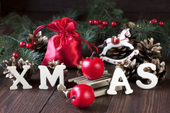 Elegante klassische Weihnachtshintergrund-Karte für Feiertage Stockfoto