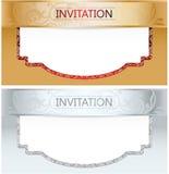 Elegante Koninklijke Uitnodigingsreeks Royalty-vrije Stock Afbeelding