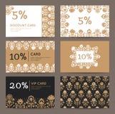 Elegante kortingskaarten Stock Afbeelding