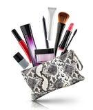 Elegante kosmetische zak stock fotografie