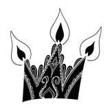Elegante Krone mit Kerzen Lizenzfreies Stockfoto