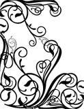 Elegante krul van een vector. Royalty-vrije Stock Afbeeldingen