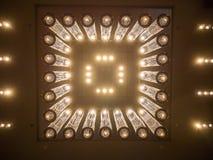 Elegante Lampen im Hotel Stockbild