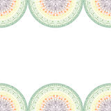 Elegante Mandala, nahtloses Muster der runden Spitzes, Kreishintergrund mit vielen Details Stockbilder