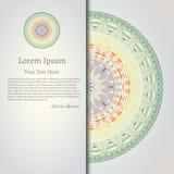 Elegante Mandala, rundes Spitzemuster, Kreishintergrund mit vielen Details Lizenzfreie Stockfotos
