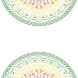 Elegante Mandala, rundes Spitzemuster, Kreishintergrund mit vielen Details Stockbilder