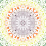 Elegante Mandala, rundes Spitzemuster, Kreishintergrund mit vielen Details Stockfoto