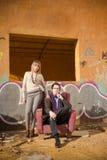 Elegante mensen in crisis Royalty-vrije Stock Foto's