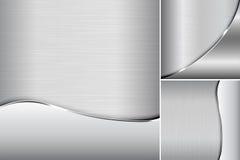 Elegante metallische Hintergründe Stockfotos