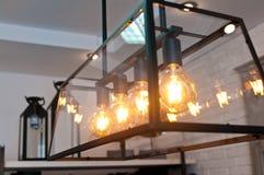Elegante moderne Lichter im Haus Stockfotografie