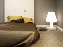 Elegante moderne slaapkamer Royalty-vrije Stock Foto