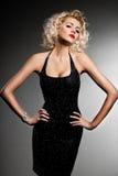 Elegante modieuze vrouw Royalty-vrije Stock Fotografie