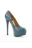 Elegante modieuze vrouwelijke schoenen met hoge geïsoleerde hielen Royalty-vrije Stock Fotografie