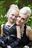 Elegante Moeder & Dochter Royalty-vrije Stock Foto's