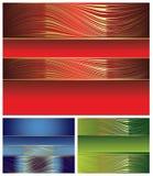 Elegante multicolored geplaatste achtergronden Stock Fotografie