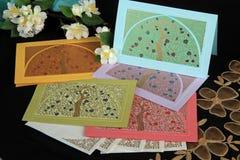 Elegante notakaarten Stock Foto