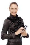 Elegante onderneemster met persoonlijke organisator Royalty-vrije Stock Foto