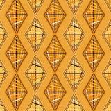 Elegante orange Diamanten in einem nahtlosen Muster mit Schrägstreifen vektor abbildung