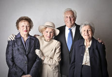 Elegante oude mensen Stock Foto's