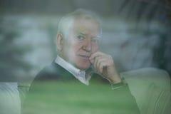 Elegante oudere mens Royalty-vrije Stock Foto's