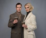 Elegante Paare lizenzfreies stockbild