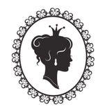 Elegante prinses in het kader royalty-vrije illustratie