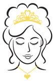 Elegante Prinses met Tiara/eps Stock Foto