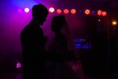Elegante recht junge Braut und Bräutigam Stockfotografie