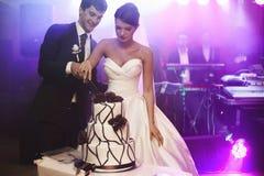 Elegante recht junge Braut und Bräutigam Lizenzfreie Stockfotos