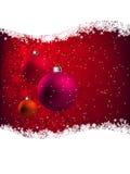 Elegante Rode Kerstkaart. EPS 8 Stock Foto