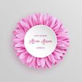 Elegante rosa Gerberablumenschablone Stockfoto