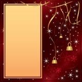 Elegante rote Karte der frohen Weihnachten Stockbild