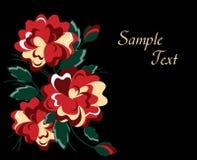 Elegante rote Rosen lizenzfreie abbildung