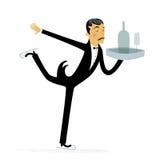 De Schaatsende Kelner van het ijs stock illustratie
