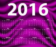 Elegante Schablone für Kalender 2016 Lizenzfreies Stockbild